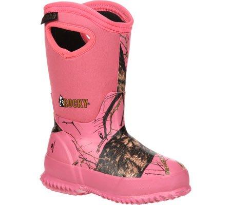 Rocky Girls' Core Camo Waterproof Insulated Rubber Boot Roun