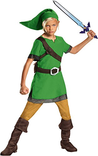 Disguise Boy's Legend of Zelda Link Classic Outfit Child Halloween Fancy Costume, Child S (4-6)