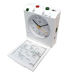 Braun BNC005WHWH Classic Motion Analog Quartz Alarm Clock