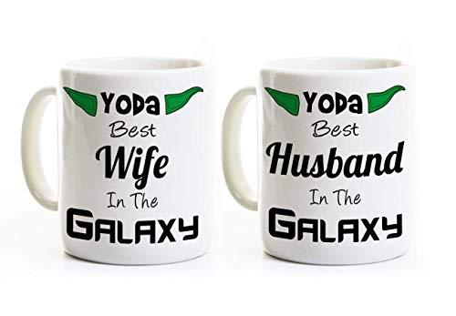 Yoda Ceramic (Yoda Best Husband and Wife Coffee Mugs - 11 or 15 Oz Ceramic Mugs - Customizable)