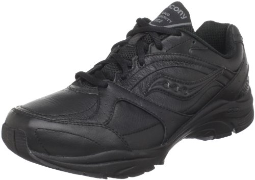 Saucony Women's ProGrid Integrity ST2 Walking Shoe,Black/Grey,8.5 2E US (10111-2)