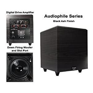 Acoustic Audio PSW-12 500 Watt 12-Inch Down Firing Powered Subwoofer (Black)