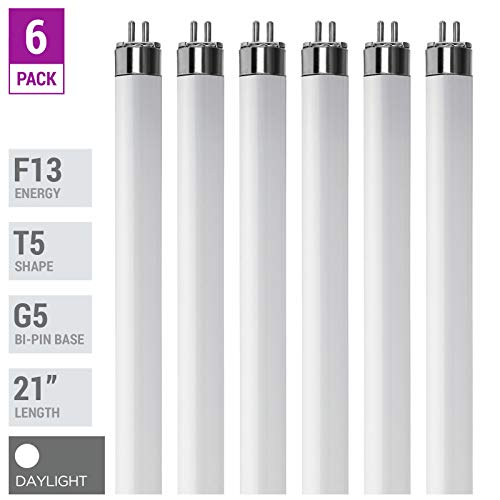 (Pack Of 6) F13T5/D - T5 Fluorescent 6500K Daylight - 13 Watt - 21