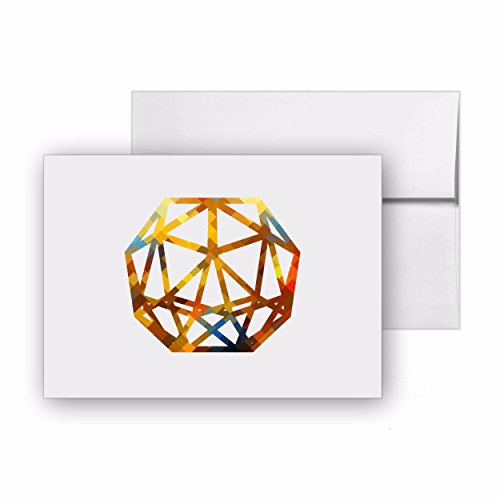 (Romo Cube Romo Icon Jewel, Blank Card Invitation Pack, 15 cards at 4x6, with White Envelopes, Item 837544)