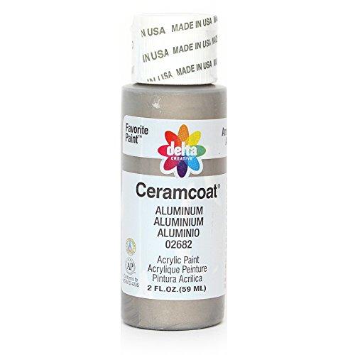 Delta Creative Ceramcoat Acrylic Paint in Assorted Colors (2 oz), 2682, Aluminum (Aluminum Acrylic)