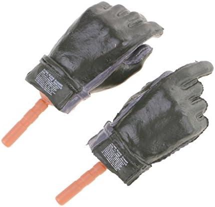 Baoblaze 1:6スケール 手袋 ハーフ手袋 12インチアクションフィギュア用 アクセサリー ブラック - 女性のダークグリーンの手袋をはめた手, 説明したように