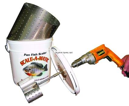 Productive Alternatives Scale-A-Matic Sam-4 Bucket Fish Scaler by SCALE-A-MATIC