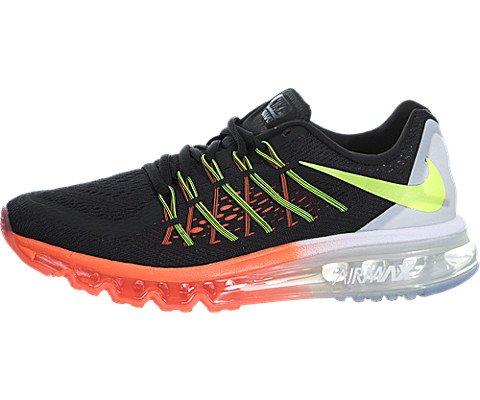 Nike Kids Air Max 2015 (GS) Black/Volt/Hot Lava/White Running Shoe 6 Kids US by Nike