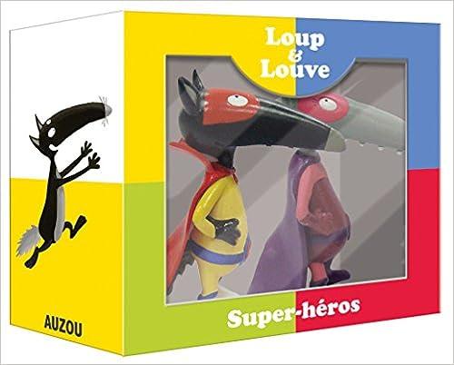 Le Loup qui voulait être un super-héros - Coffret 2 figurines seules (loup et louve super-héros)