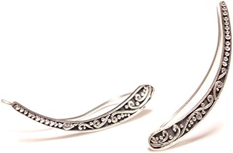 Crawler or Wave Earrings Silver