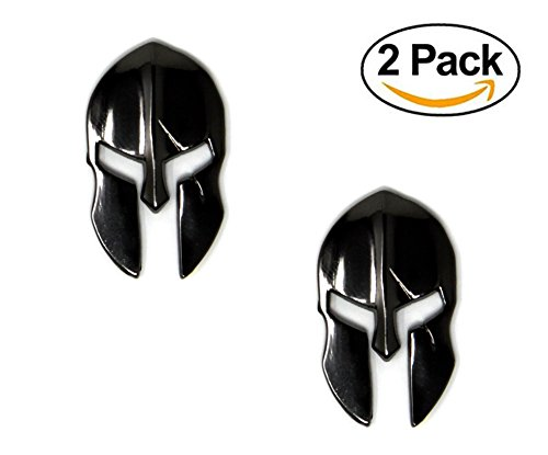 Tactical Freedom - Magwell Metal Decal/Sticker - Molon Labe Spartan Helmet with Scar (Black Chrome)