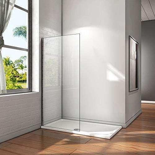 Mampara walk-in, Mampara de ducha fija de 80x200cm,Vidrio templado de 8mm tratamiento antical/Easyclean: Amazon.es: Bricolaje y herramientas