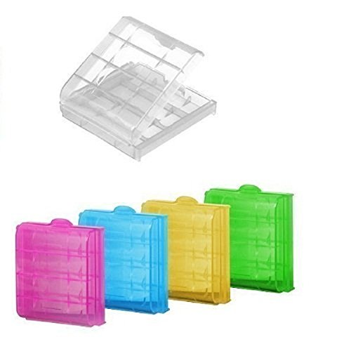 5X Hard Plastic Battery Case Holder Storage Box Suitable for AA AAA Batteries