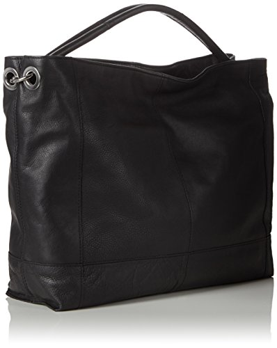 PIECES Damen Pcphillippa Leather Bag Shopper, 48x32x11 cm Schwarz (Black)