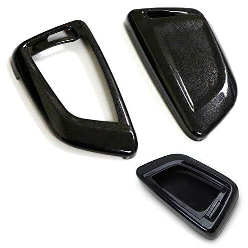 iJDMTOY (1 Exact Fit Gloss Metallic Black Smart Remote Key Fob Shell for 2016-up BMW X1, 2014-up BMW X5, 2015-up BMW X6, 2017-up BMW 5 Series & 2016-up BMW 7 Series - Metallic Key Fob