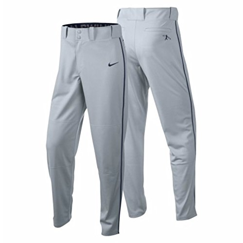 Nike Men's Swingman Dri-FIT Piped Baseball Pants (Grey/Blue, Small) by Nike
