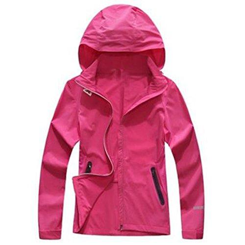 Giacca Sottile Pink Giacche Donna Antivento Impermeabile Monoposto Primavera All'aperto 5qp7pXw