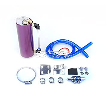 Godspeed Universal Racing Oil Catch Can Tank Oil Reservoir Tank Purple Color