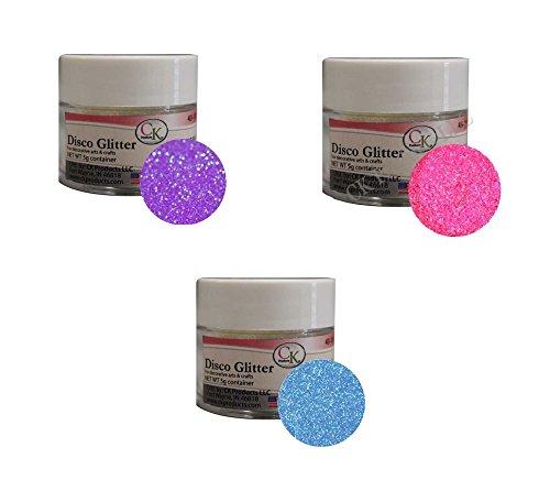 Techno Glitter - 3-Color Assortment: Rainbow (Purple, Blue & Fuschia)