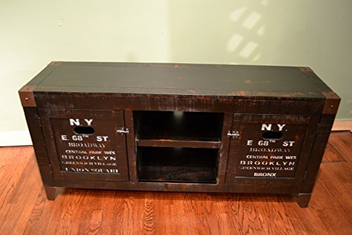 Amazon.com: Reclaimed Wood Graffiti Tv Stand Entertainment Console:  Electronics