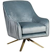 Elle Decor UPH10029B Jolie Swivel Chair Lounge, Seaglass