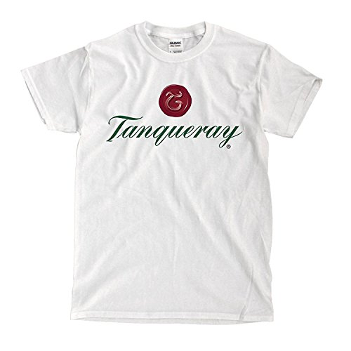Sun-Tshirt Tanqueray Gin Logo White Mens T-Shirt