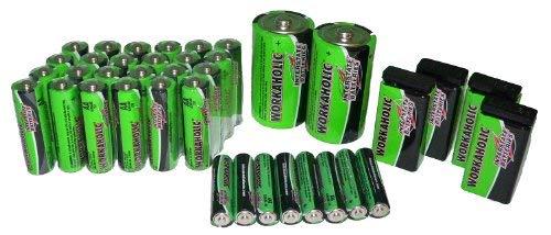 Interstate Batteries 38 Alkaline Battery Pack - 9V, AA, AAA, D