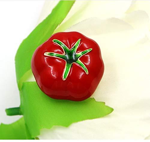 E Per Charme Verde Di Spilla Accessori Pomodoro Abito Scarpe Smaltato Rosso Borsa Donna pTRS4q
