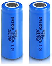 IFR18500 18500 3.2V Li ion(LiFePo4) Rechargeable Batteries Flat Top