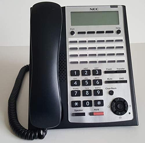 Black 24 Button Display LOT 4 NEC SL1100 SYSTEM PHONE IP IP4WW-24TXH-B-Tel BK