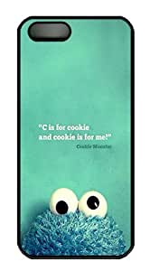 IMARTCASE iPhone 5S Case, C Is For Cookie PC Black Hard Case Cover for Apple iPhone 5s/5
