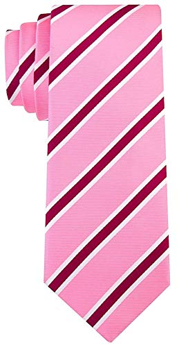 - Striped Ties for Men - Woven Necktie - Pink w/Purple