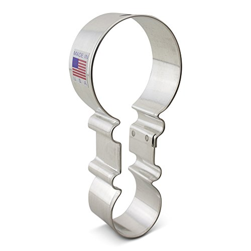 Ann Clark Baby Rattle Cookie Cutter - 4.5 Inches - Tin Plated (Cookie Cutters For Baby Shower Favors)