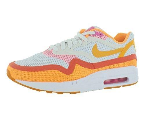 Nike Womens air max 1 BR Breathe Running Trainers 644443 Sneakers Shoes (UK 4.5 US 7 EU 38, White/Atomic Mango-Pink Glow-KMQT) (Nike Air Max Lebron Pink)