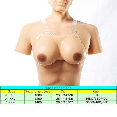 Seno Per Dimensioni Regolabile Silicone coppia Abbronzato Tette Con 3 Finto Al 1200g 1400g Spalline Mastectomia Post Effetto 1000g Protesi rgzHxwnr4q