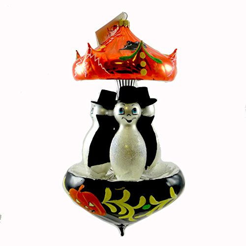 Laved Italian Ornaments DRACULA GHOST CAROUSEL Glass Halloween Pumpkins CAR011 -