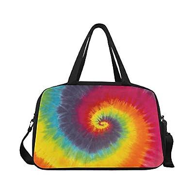 InterestPrint Rainbow Tie Dye Duffel Bag Travel Tote Bag Handbag Luggage  60%OFF 6cfea0f9f6