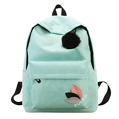 Zibuyu Canvas Green School Backpacks