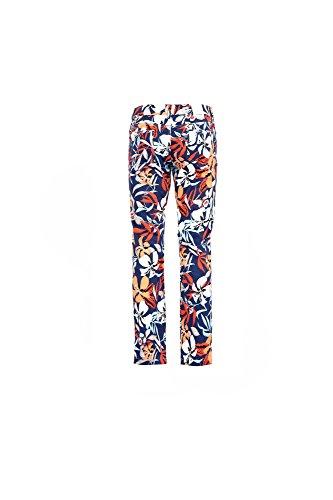 KJP236 Caf Noir Cinq Pantalone Cobalto Poches Tropicale IMPRIMEES REGULIERES 2364 66awx