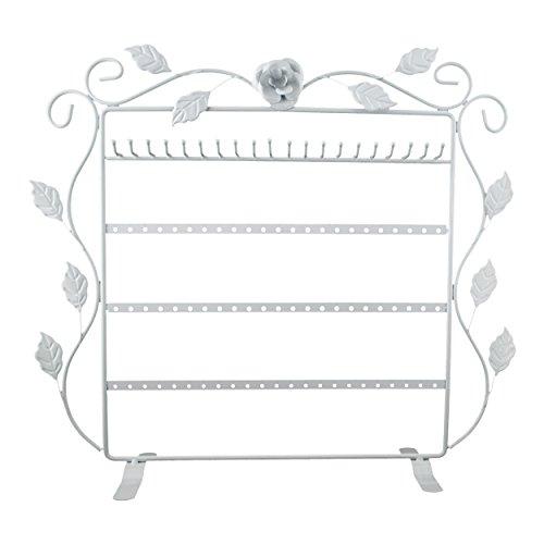 VENKON - Schmuckständer für Aufbewahrung & Präsentation - Ohrringe Halsketten Fingerringe Armbänder etc. - weiß - ca. 37 x 11 x 35 cm