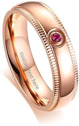 ステンレス 指輪 リング レディース 無料刻印 かわいい 人気 おしゃれ ファッション アクセサリー 記念日 バレンタインデー クリスマス 新年 プレゼントローズゴールド