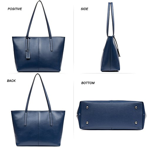 Clutch Blue Shoulder Designer Bag Leather handle Tote Large Top Purse Handbags Women's Navy Nawo Oqz6q