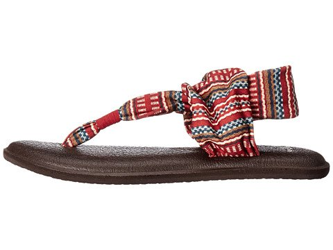 Fionda Yoga Donna Sanuk 2 Flip Flop Bordeaux-bayridge