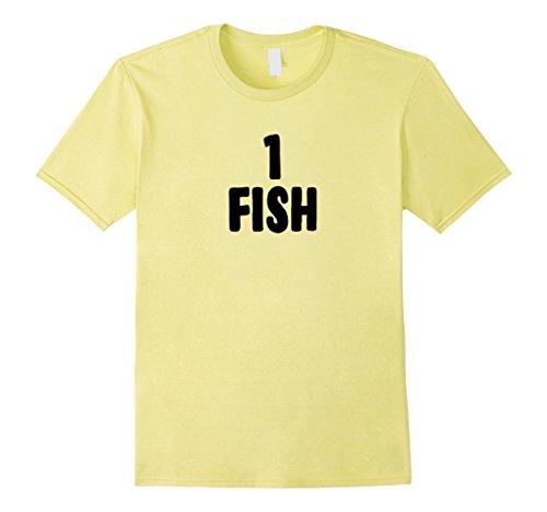 [Mens One Fish Group Halloween Costume T-shirt XL Lemon] (Simple Costume Ideas Men)