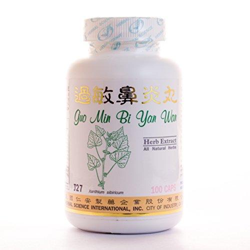 Nasal Allergy Formula Dietary Supplement 500mg 100 Capsules (Guo Min Bi Yan Wan) J27 100% Natural Herbs