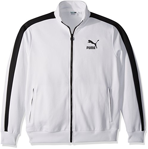 PUMA Men's Archive T7 Track Jacket, White Black, M by PUMA