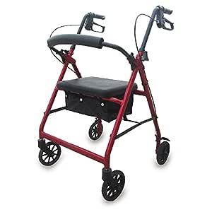 Queraltó Andador Rollator para Ancianos Plegable, Regulable en ...