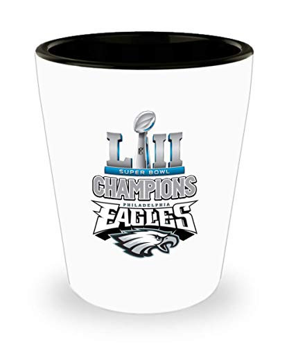 Jyotis - Philadelphia Eagles Shot Glass, Super Bowl 52 Champions Philadelphia Eagles, NFL NFC National Football League, Perfect Unique Gift For Any Ea