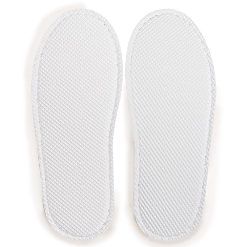 of White Fleece Neat House Pairs Closed 6 Slippers Toe Nicely Pack Coral x8AfqPxI