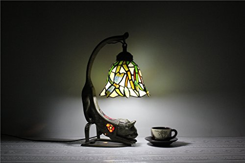7 inch Continental Tianyuan Jing Glass Products Glass Dragonfly lamp Bedroom Bedside lamp